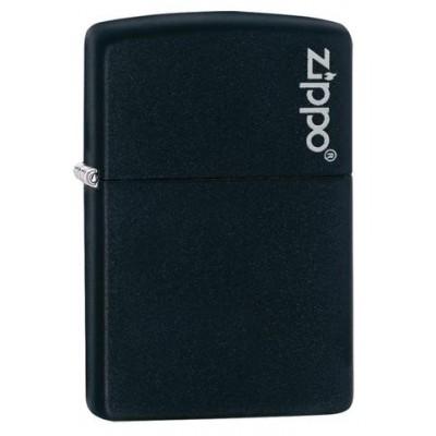 Зажигалка ZIPPO Black Matte with Zippo Logo