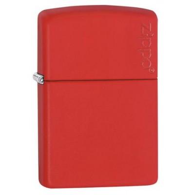 Зажигалка ZIPPO Red Matte with Zippo Logo