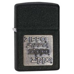 Зажигалка ZIPPO Black Crackle Gold Zippo Logo