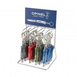 Набор-дисплей 36 шт: нож-брелок Opinel №4, нержавеющая сталь (синий, зеленый, красный, серый)