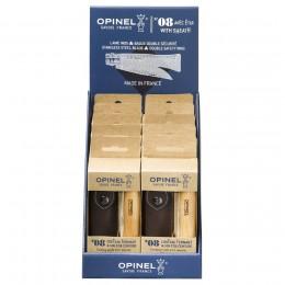 Набор-дисплей Opinel, 10 наборов ножей №8 из нержав. стали + чехол