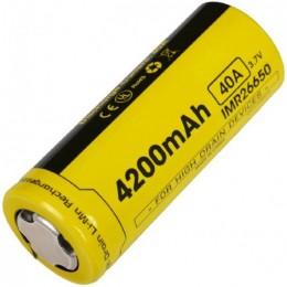 Аккумулятор NITECORE IMR NL26650A 3.7v 4200mA 40A FLAT TOP 14534