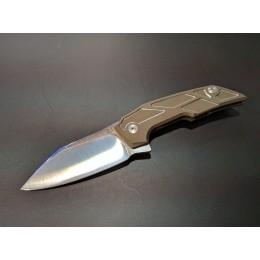 Складной нож Phoenix, сталь M390, титан, коричневый
