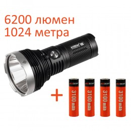 Поисковый фонарь Acebeam K65 NW + 4 аккумулятора 3100 mAh