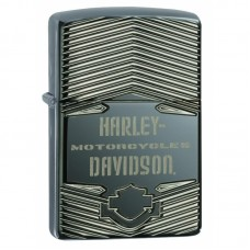 Зажигалка Zippo Armor Harley-Davidson Deep Carved, Black Ice
