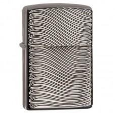 Зажигалка Zippo Armor Engraved Curves, Two Sides - Black Ice