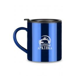 Кружка Арктика с крышкой, 300мл (синяя)
