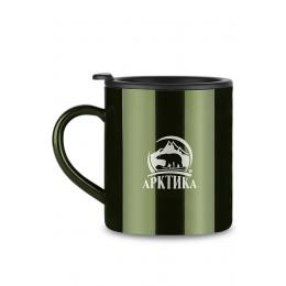 Кружка Арктика с крышкой, 300мл (зеленая)